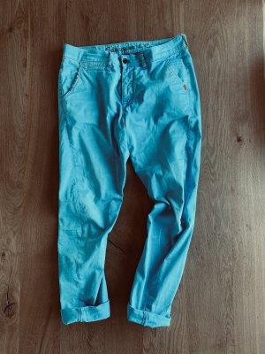 Adenauer & Co Spodnie typu boyfriend turkusowy-jasnoniebieski