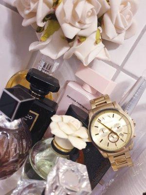 Armani Exchange Montre avec bracelet métallique doré