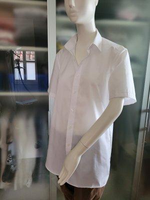 ROYAL CLASS Camisa de manga corta blanco Algodón