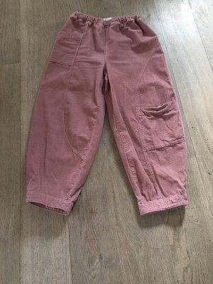 Pantalón de pana color rosa dorado