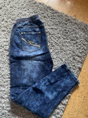Spodnie typu boyfriend ciemnoniebieski