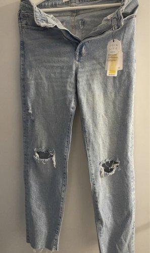 Zalando Boyfriend Trousers azure