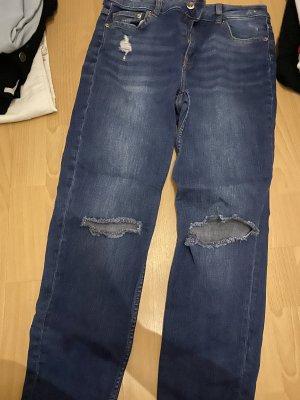 H&M Jeans boyfriend bleu foncé