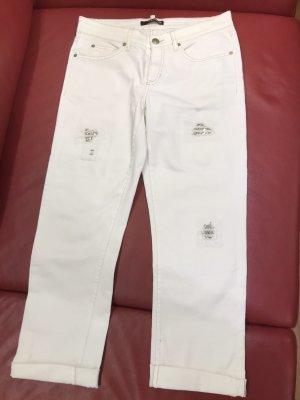 Cambio Boyfriend Jeans white