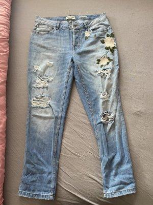 Taily Weijl Boyfriend Trousers pink-blue