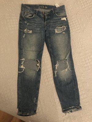 Amisu Boyfriend Jeans steel blue-dark blue