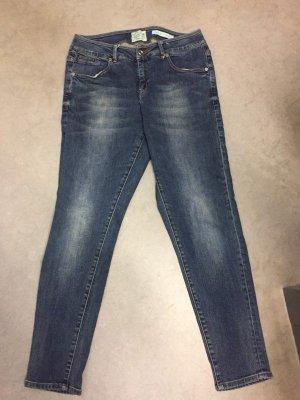 Sfera Jeans boyfriend bleu fluo-bleu tissu mixte