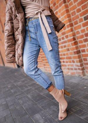 Boyfriend Jeans light blue-gold-colored