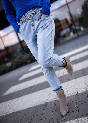 Bastet Boyfriend Jeans light blue-silver-colored