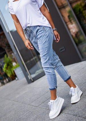 Boyfriend Jeans light blue-silver-colored
