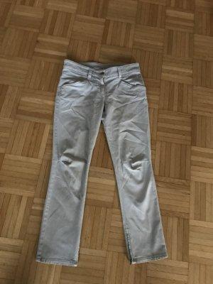 Brunello Cucinelli Workowate jeansy jasnoszary-błękitny Bawełna