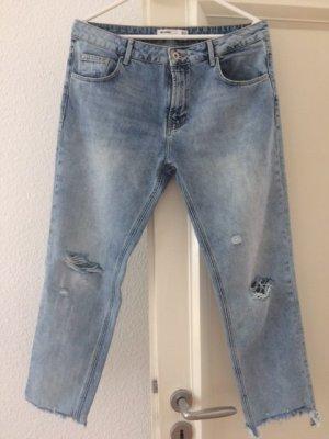 H&M Boyfriend Jeans light blue cotton