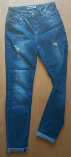 Noisy May Pantalone boyfriend blu acciaio