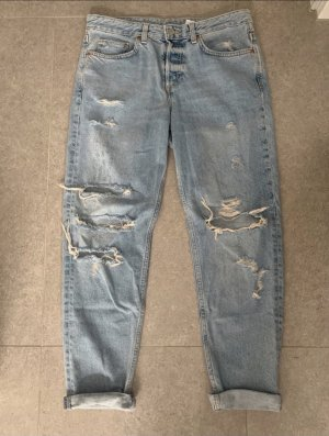 H&M Boyfriend Trousers azure