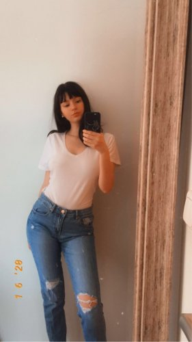 Boyfriend Jeans im Denim-Look