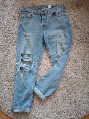 & DENIM Jeans boyfriend bleu azur