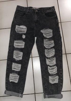 Boyfriend jeans in grau