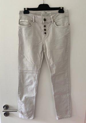 """""""Boyfriend"""" Jeans in Grau"""