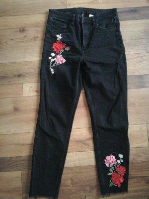 H&M Divided Jeans boyfriend noir