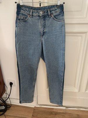Boyfriend Jeans mit dunklem Seitenstreifen