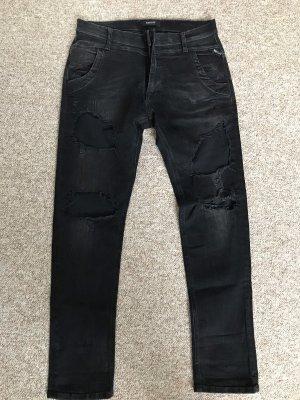 Boyfriend Jeans schwarz von Replay Gr. 27