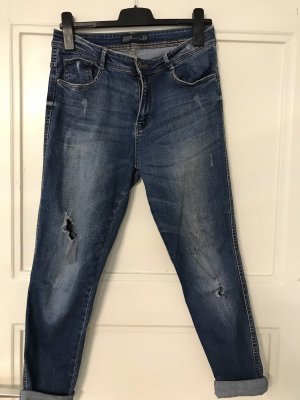 Zara Trafaluc Boyfriend jeans donkerblauw