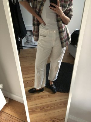 Boyfriend Jeans Weiß Zara