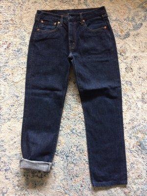 Levi's Boyfriend jeans donkerblauw-blauw