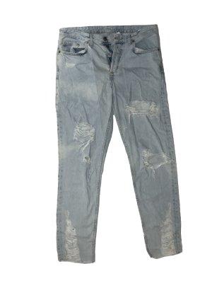 H&M Pantalon boyfriend multicolore jean