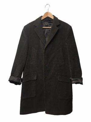 Vintage Płaszcz oversize ciemnozielony