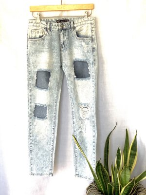 FB Sister Boyfriend Jeans silver-colored-pale blue