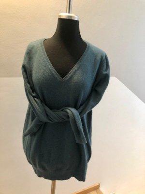 Boden Sweter z dekoltem w kształcie litery V morski Kaszmir