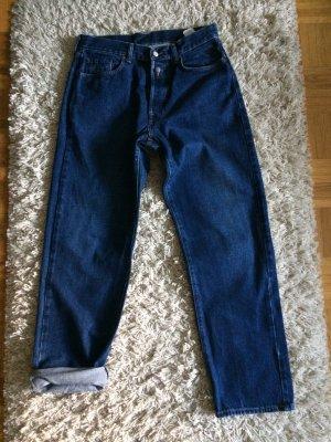 Replay Jeans boyfriend bleu-bleu foncé coton