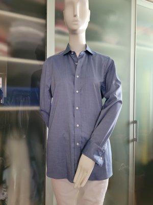 Olymp Camicia blusa blu acciaio Cotone