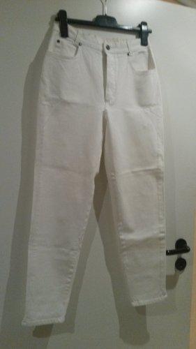 Boyfriend Strech Skinny White Denim Slim Skinny Jeans Arzthelferin Hose  Gr 38 K