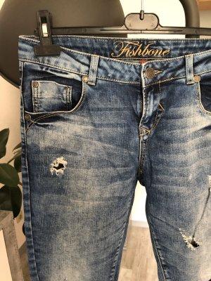 Fishbone Jeans boyfriend bleu