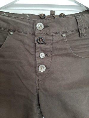 Fornarina Pantalone boyfriend marrone-marrone scuro