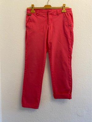 GUESS Los Angeles Pantalon boyfriend rouge framboise coton