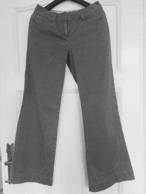 Boden Pantalon boyfriend gris coton