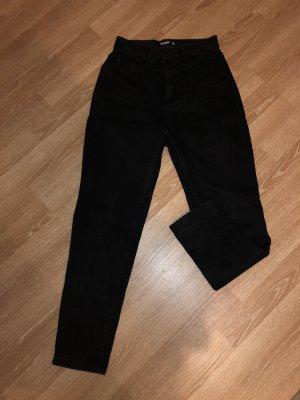 Pull & Bear Pantalon boyfriend noir