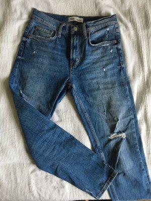 Zara Boyfriend jeans korenblauw