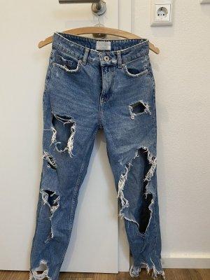 Bershka Jeans boyfriend bleu foncé