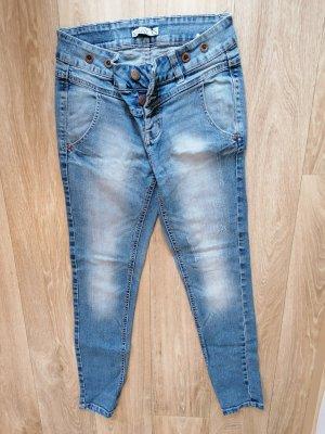 Sublevel Jeans boyfriend bleu acier