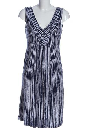 Boysen's A-Linien Kleid schwarz-weiß abstraktes Muster Casual-Look