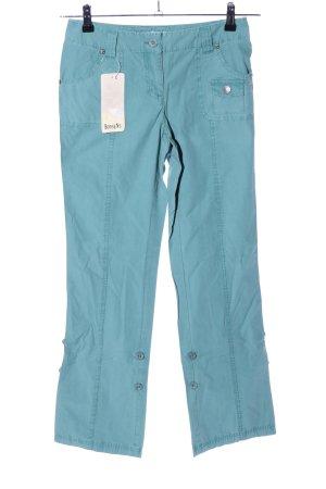 Boysen's Lage taille broek turkoois casual uitstraling