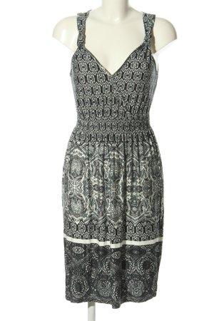 Boysen's Jerseykleid schwarz-weiß abstraktes Muster Casual-Look