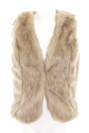 Boysen's Vest van imitatiebont room-bruin kleurverloop extravagante stijl
