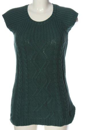 Boysen's Kurzarmpullover grün Zopfmuster Casual-Look
