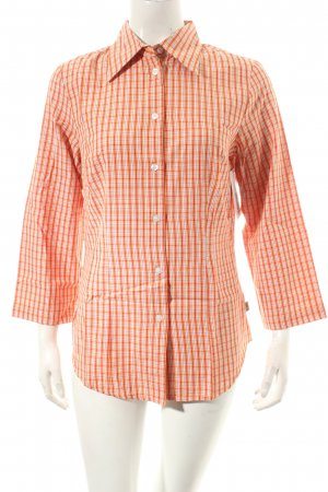 Boysen's Langarm-Bluse orange-rot Karomuster Casual-Look