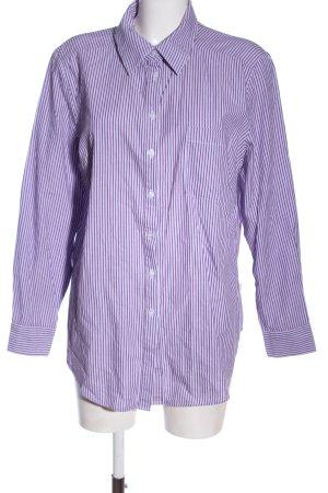 Boysen's Camicia a maniche lunghe lilla stampa integrale stile professionale